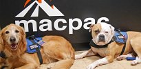 Tana and Koda at Macpac